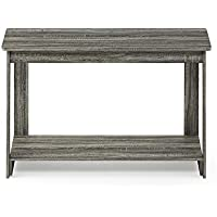FURINNO 18041GYW Beginning, TV Stand, French Oak Grey
