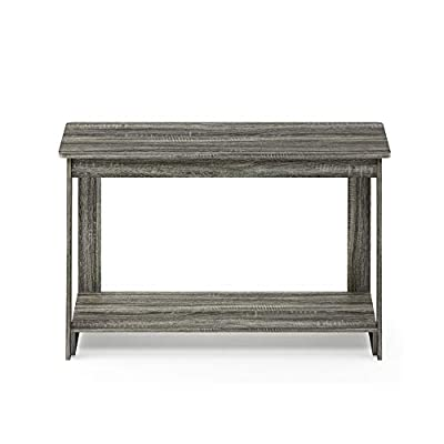 FURINNO 18041GYW Beginning, French Oak Grey, TV Stand - Comes in two colors: Espresso & French Oak Grey Provides ample storage space Assembly made easy with provided hardware pack and assembly instruction - tv-stands, living-room-furniture, living-room - 41uA3qLi4lL. SS400  -