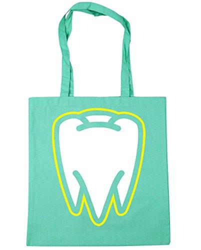10 HippoWarehouse Beach Bag Shopping litres x38cm Gym Tote 42cm Mint Tooth wwfqP7
