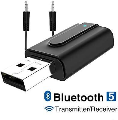 GANYUE Adaptador Bluetooth 5.0,Transceptor de Audio Inalámbrico ...