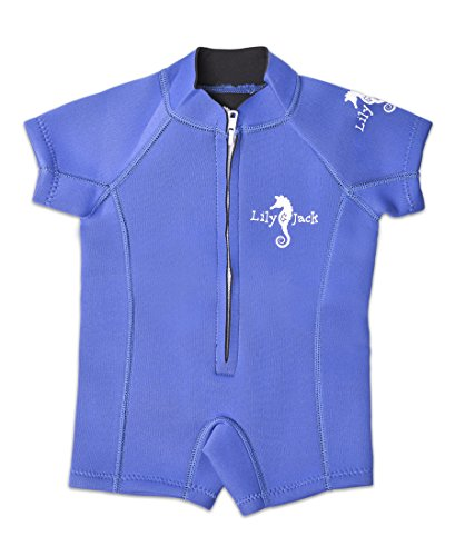 Baby Swimsuit / Wetsuit. Swimwear for Boy and Girl Toddlers with UV protection. (X-Small / 6-12 Months, Blue)