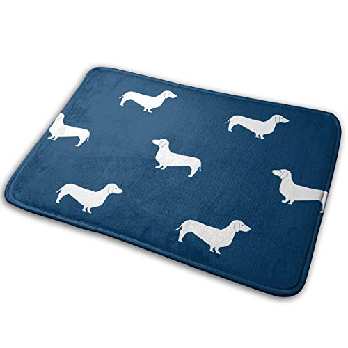 (DIDIDI Navy Dachshund Throw Area Ground Mat Accent Floor Party Outside Door Set Restroom Kitchen Bathroom Decor Welcome Entryway Rug Sign Celebrate Decorations Ornament)