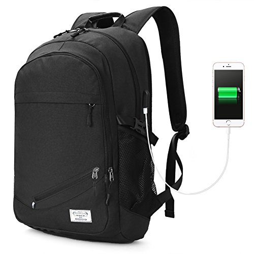 Koolertron 15.6 inch Laptop Backpack with USB Port for Ch...