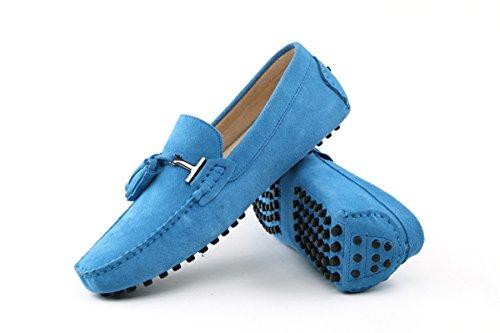 mocassini da Baby Blu nappa con Blu penny scamosciati scarpe barca Minitoo Odqf4wAq