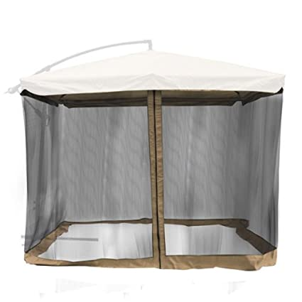 Ordinaire Gazebo Top Mosquito Netting For 9u0027x9u0027 Square Offset Patio Umbrella:  Multiple Colors