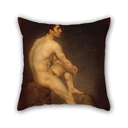 Lovwepilo Cushion Covers 18 X 18 Inches/Nice Choice for Kitchen Family Pub Dance Room Husband Oil Painting Manuel Ignacio V?zquez - Male Nude