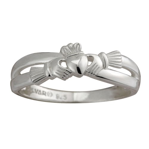 Kissing Claddagh Ring Sterling Silver Sz 9