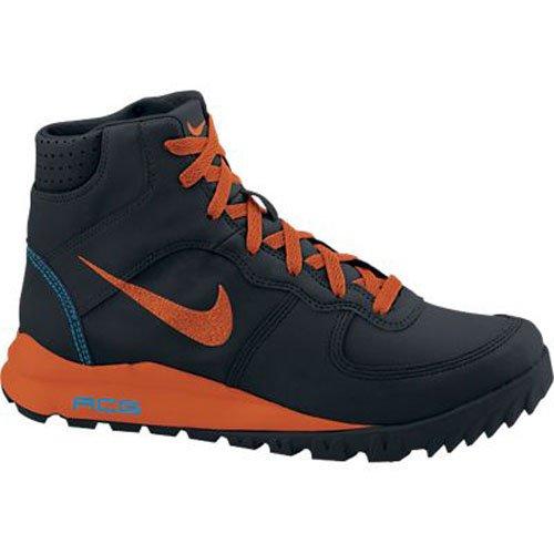 Nike Men's Takos Mid Le Black/Urban Orange/Blue Hero Boot 12 Men US