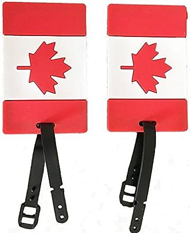 2-Piece Set Canada Luggage Tag Duffle Bag Label European Canadian American (Canada) - En Route Luggage Tag