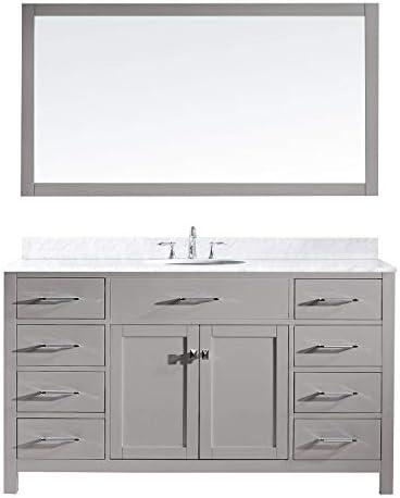 Virtu USA MS-2060-WMRO-CG-001 Caroline Bathroom Vanity 60 inches Cashmere Grey