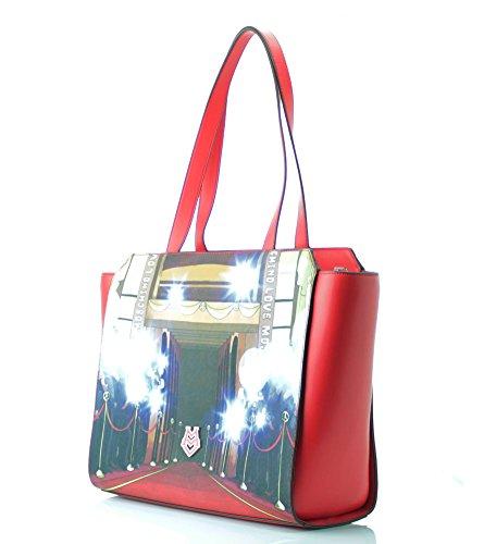 Love Moschino , Sac pour femme à porter à l'épaule rouge rouge