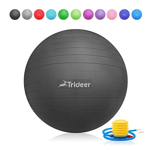 Exercise Ball (45-85cm) Yoga Ball Chair, Anti-Burst & Extra Thick, Birthing Ball with Quick Pump, 2000lbs Stability Ball (Office and Home)