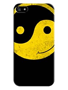 Sangu Tai Chi Hard Back Shell Case / Cover for Iphone 5 and 5s - Black