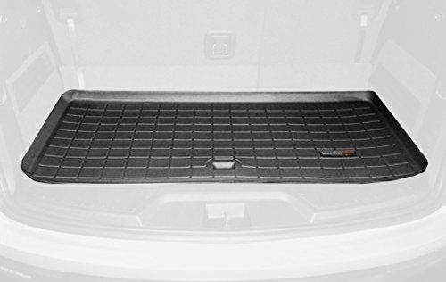 WeatherTech Custom Fit Cargo Liners for GMC Acadia, Black BEHIND 3rd ROW - Gmc Cargo Liner
