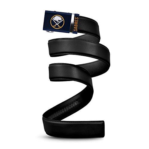 Buffalo Sabres Black Leather - Mission Belt NHL Buffalo Sabres, Black Leather Ratchet Belt, Small (Up to 32