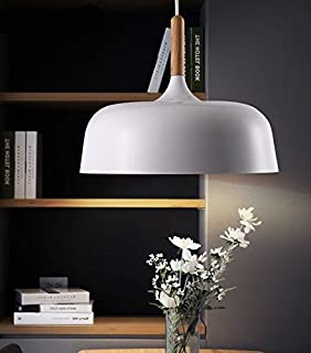 Contemporary Metal Pendant Light Shade Smooth Surface Dinning Ceiling Lamp Fixture White