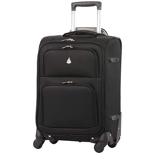 Large Capacity Maximum Allowance 22x14x9 Airline Approved Delta United Southwest Carry On Spinner Luggage Cabin Bag | Rolling Travel Suitcase Lightweight Soft Shell Trolley | 19.5x14x9in Body Size (22 X 14 X 9 Duffle Bag)