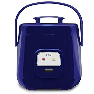 Elite ERC-135BL Cuisine 4 Cup Mini Rice Cooker, Royal Blue