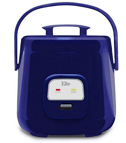 Elite Cuisine ERC-135BL Maxi-Matic 4 Cup Mini Rice Cooker, R