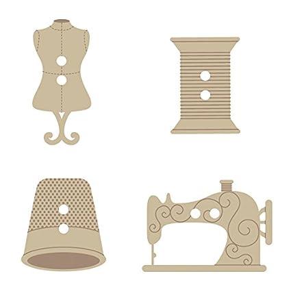 Artemio - Botones decorativos para máquina de coser (2,5 cm, madera,