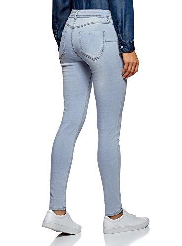 Femme Jean Basique oodji Bleu Ultra 7000w Skinny 1x7UU0wn