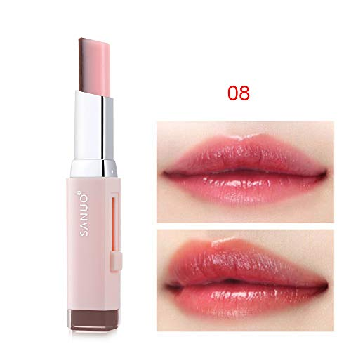 oceaneshop Two Tone Lipstick Lip Balm Waterproof Long Lasting Moisturizing Gradient Color Lip Gloss