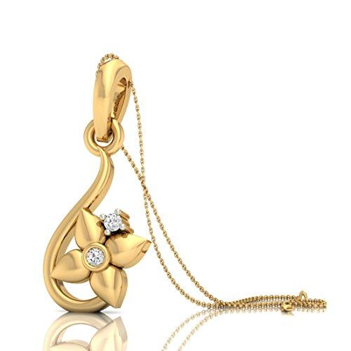 Or jaune 18K Diamant 0,03carat au total Round-shape (IJ | SI) diamant Pendentif