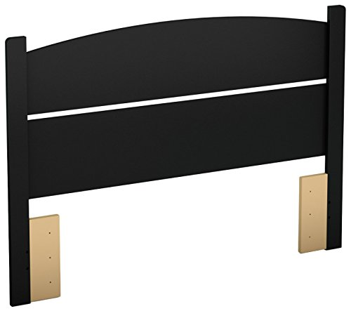 (South Shore Libra Headboard, Full 54-Inch, Pure Black)