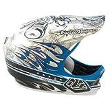 Troy Lee D2 Composite Full Face Helmet Pistonbone Blue Medium / Large