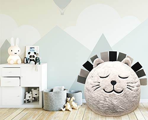 Beanbag For Kids: Soft And Comfortable Stuffed Bean Bag Chair For The Nursery, Cute Animal Design For Boys And Girls, Lux Plush Fabric, For Children Of All Ages 30 x 30 x 20 (Lion)