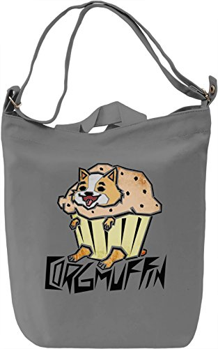 Corgmuffin Borsa Giornaliera Canvas Canvas Day Bag| 100% Premium Cotton Canvas| DTG Printing|