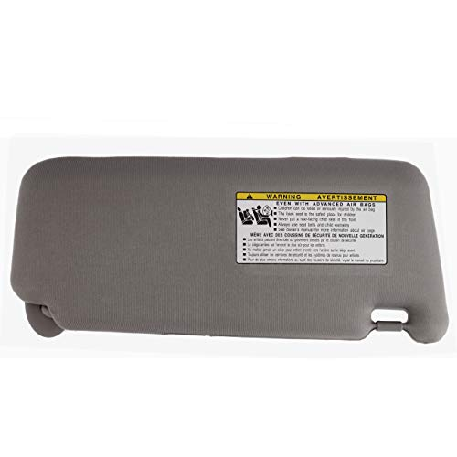 IAMAUTO 31679 New Sun Visor Left Driver Side Gray for 2007 2008 2009 2010 2011 Toyota Camry Without Vanity Light