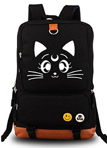 Price comparison product image Siawasey Sailor Moon Anime Usagi Tsukino Luna Cosplay Bookbag Backpack Shoulder Bag School Bag