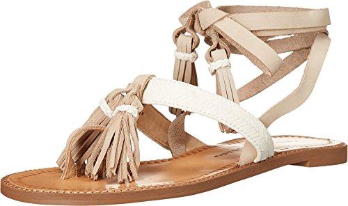 (Chinese Laundry Women's Giordana Flat Sandal, Cream Leather,  8 M)