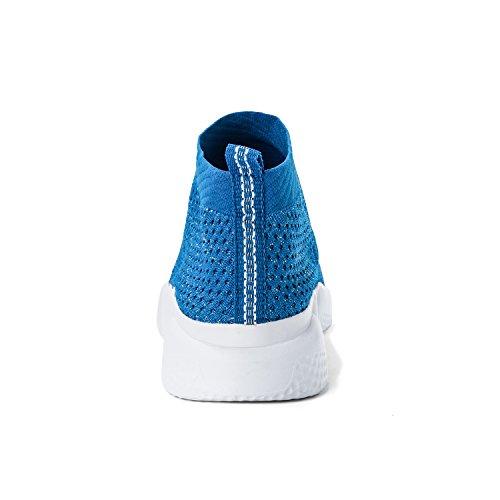 Laufende leichte Breathable beiläufige Sportschuhe der Frauen arbeiten Art- und Weiseturnschuh-wandernde Schuhe um Himmelblau