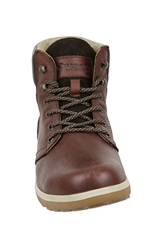 Pictures of Discovery Expedition Mens Leather High Top Lace Up Hiking Boot Brown Size 12 4