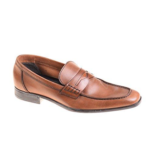 Lottusse - Mocasines de Piel para hombre marrón marrón