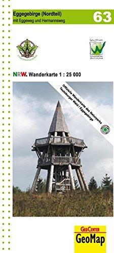 Wanderkarte Nordrhein-Westfalen 63 Eggegebirge (Nordteil) 1:25 000: Topographische Wanderkarte für den nördlichen Teil des Eggegebirges mit Eggeweg ... sowie vielen Freizeitinformationen (Geo Map)