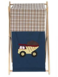 Baby and Kids Clothes Laundry Hamper for Sweet Jojo Designs for Construction Zone Bedding