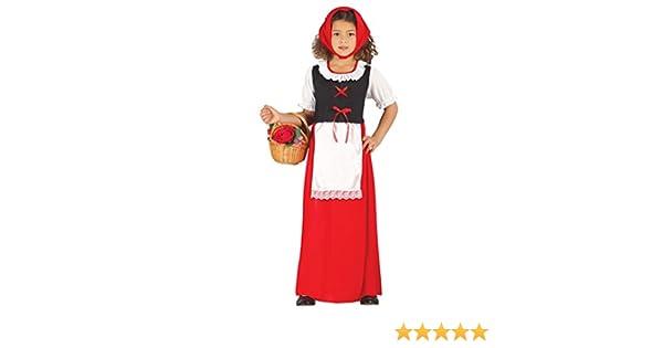 Guirca- Disfraz infantil de pastora, Color rojo, 7-9 años (42484.0 ...