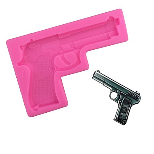 Gun Pistol 3D Soft Silicone Cake Decorating Fondant Sugar Craft Molds Candy Chocolate Mold Candy Making Molds By Palker sky