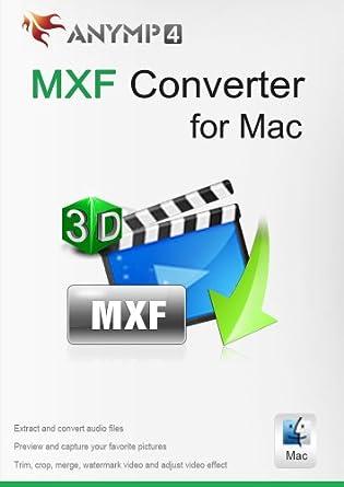 Amazon com: AnyMP4 MXF Converter for Mac Lifetime License