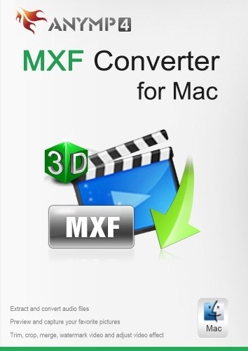 AnyMP4 MXF Converter for Mac Lifetime License - Convert MXF video to MP4, MOV, AVI, MP3 and other video/audio formats freely on Mac [Download]