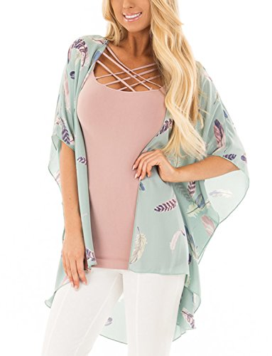 BB&KK Cute Pretty Flowy Boho Kimono Top Plus XL Size Robe Women