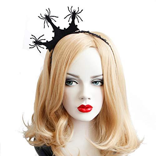 Halloween Headband Hair Hoop for Women Boys Girls Kids ,Spider Crown Hair band Hair Accessories Headdress for Halloween Decorations Party Supplies Queen Dress Up Kindergarten ()