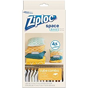 Ziploc Space Bag Vacuum Seal Bags 2-Piece Cube