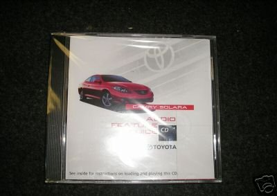 (New Toyota Camry Solara 2004 Audio Feature Guide Cd Compact Disc Feature Manual Sealed )