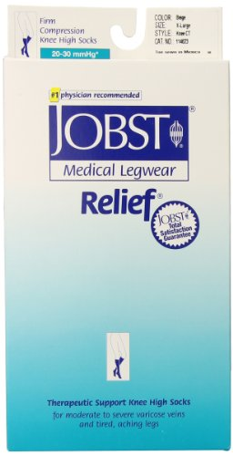 Jobst Relief 20-30 Knee High Close Toe Beige Compression ...