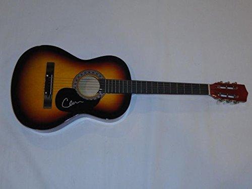 Cam Signed Signed Full-size Sunburst Acoustic Guitar Burning House New Coa - JSA Certified