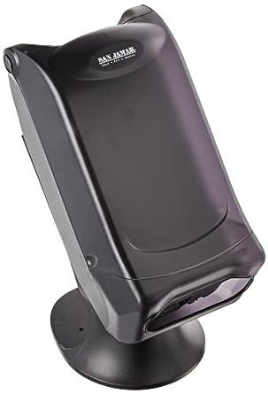 "San Jamar H5001S Venue Fullfold Classic Napkin Dispenser with Stand, 500 Capacity, 8"" Width x 17-1/2"" Height x 13"" Depth, Black Pearl"